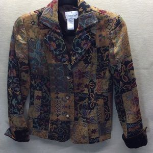 Cold water Creek Fashion Jacket Patchwork PXS